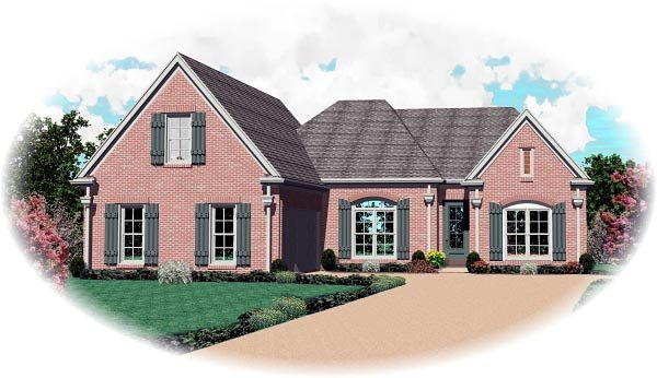 Traditional House Plan 46855 Elevation
