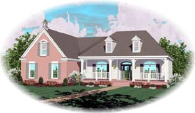 Traditional House Plan 46856 with 3 Beds, 3 Baths, 2 Car Garage Elevation