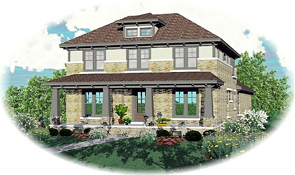 Craftsman House Plan 46858 Elevation