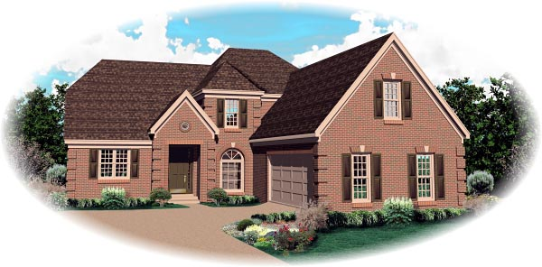 European House Plan 46860 Elevation