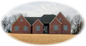House Plan 46861 | Traditional Style Plan with 2340 Sq Ft, 3 Bedrooms, 3 Bathrooms, 2 Car Garage Elevation