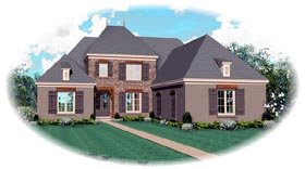 Traditional House Plan 46867 Elevation