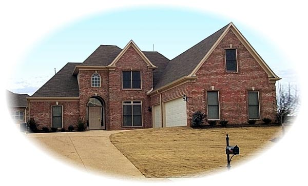Traditional House Plan 46869 with 3 Beds, 3 Baths, 3 Car Garage Elevation