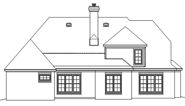 Traditional House Plan 46869 Rear Elevation
