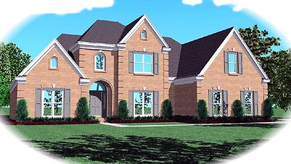 House Plan 46870 | Traditional Style Plan with 2988 Sq Ft, 4 Bedrooms, 4 Bathrooms, 3 Car Garage Elevation