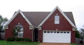 House Plan 46875   Style Plan with 1717 Sq Ft, 3 Bedrooms, 3 Bathrooms, 2 Car Garage Elevation
