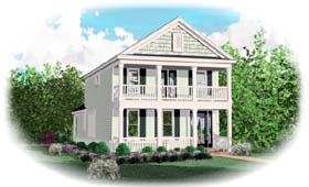 House Plan 46882 Elevation
