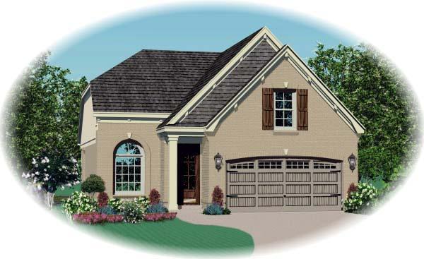 House Plan 46885 Elevation