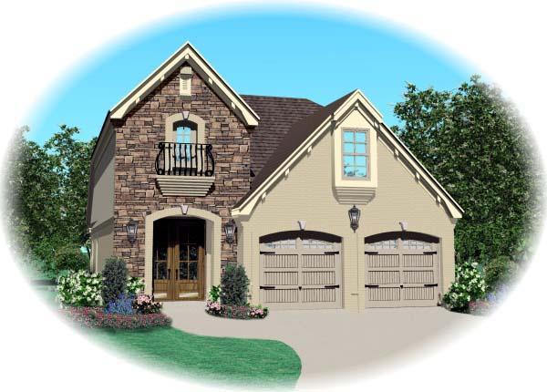 House Plan 46887 Elevation