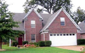 House Plan 46888   Style Plan with 2001 Sq Ft, 3 Bedrooms, 3 Bathrooms, 2 Car Garage Elevation