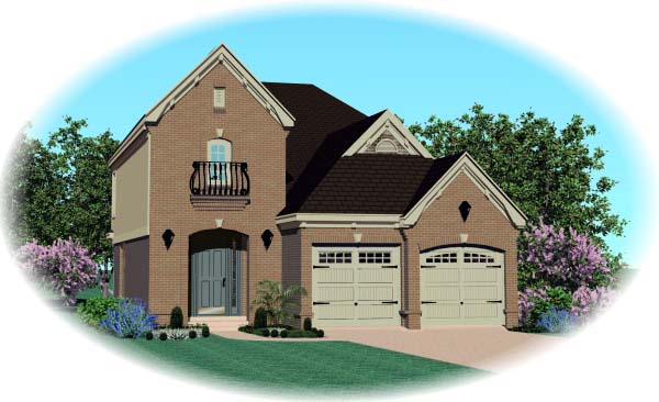 House Plan 46894 Elevation