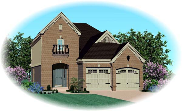 House Plan 46895 Elevation