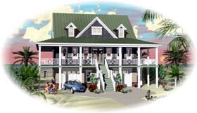 House Plan 46906 | Style Plan with 1934 Sq Ft, 3 Bed, 3 Bath, 2 Car Garage Elevation