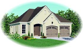 House Plan 46908 Elevation