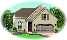House Plan 46909 Elevation