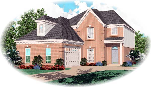 House Plan 46912 Elevation