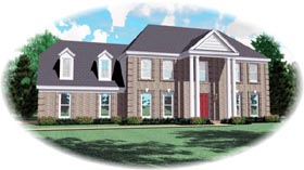 House Plan 46916 | Style Plan with 2683 Sq Ft, 4 Bedrooms, 4 Bathrooms, 2 Car Garage Elevation