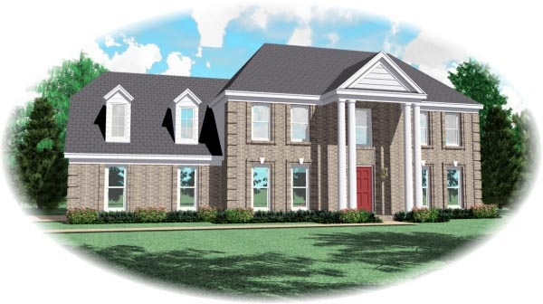 House Plan 46916 Elevation
