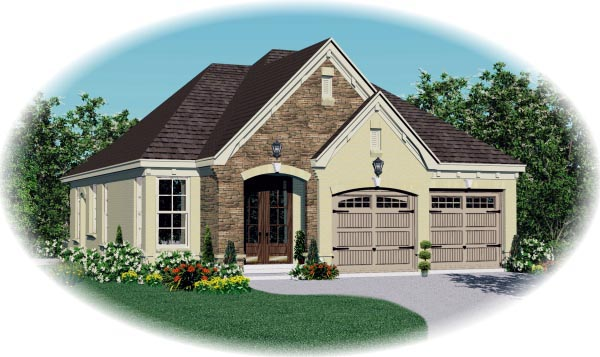 House Plan 46922 Elevation