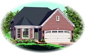 House Plan 46925 Elevation