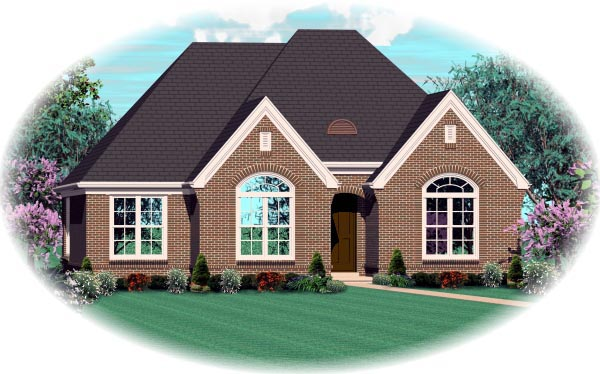 House Plan 46933 Elevation