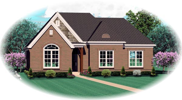 House Plan 46934 Elevation