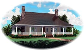 House Plan 46937 | Style Plan with 2667 Sq Ft, 3 Bedrooms, 3 Bathrooms Elevation