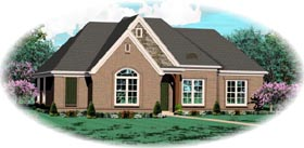 House Plan 46938 | Style Plan with 1779 Sq Ft, 3 Bedrooms, 2 Bathrooms, 2 Car Garage Elevation