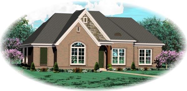 House Plan 46938 Elevation