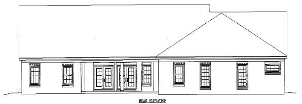 House Plan 46945 Rear Elevation
