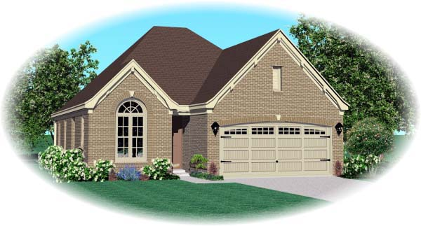 House Plan 46957 Elevation