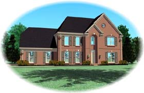 House Plan 46962 with 4 Beds, 4 Baths, 2 Car Garage Elevation