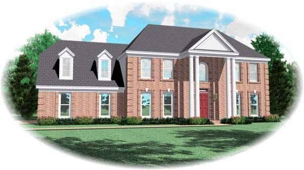 House Plan 46963 Elevation