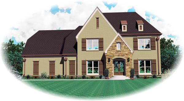 House Plan 46965 Elevation
