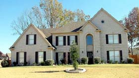 House Plan 46971 | Style Plan with 3492 Sq Ft, 5 Bedrooms, 4 Bathrooms, 3 Car Garage Elevation