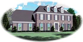 House Plan 46972 | Style Plan with 4854 Sq Ft, 4 Bedrooms, 3 Bathrooms, 2 Car Garage Elevation