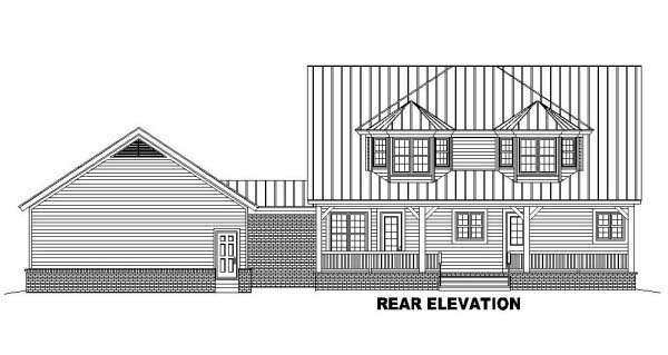 Country Farmhouse House Plan 46982 Rear Elevation