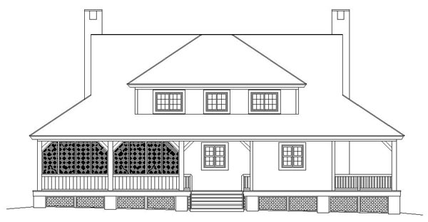Country Farmhouse House Plan 46983 Rear Elevation