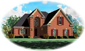 House Plan 46985 with 3 Beds, 3 Baths, 2 Car Garage Elevation