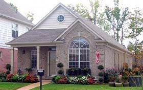 House Plan 46986 with 3 Beds, 2 Baths, 2 Car Garage Elevation