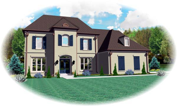 House Plan 46999 Elevation