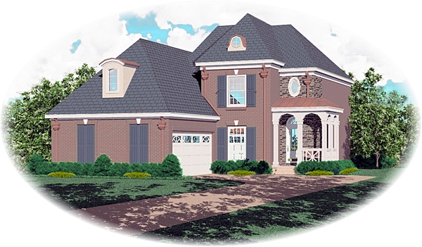 European House Plan 47003 Elevation