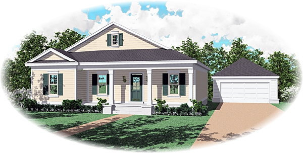 Country House Plan 47005 Elevation