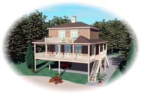 House Plan 47006 Elevation