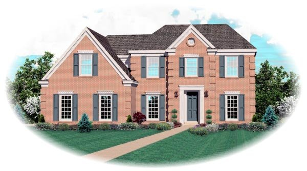 Colonial , Elevation of Plan 47012
