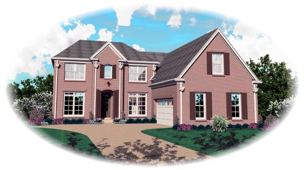 House Plan 47022 Elevation
