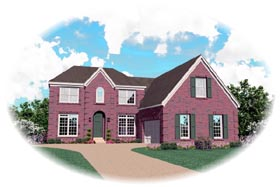 House Plan 47023 with 3 Beds, 4 Baths, 2 Car Garage Elevation