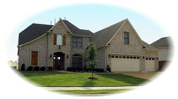 Traditional House Plan 47027 with 4 Beds, 4 Baths, 3 Car Garage Elevation