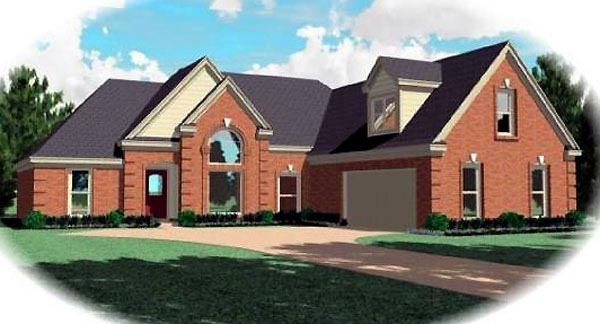 Traditional House Plan 47036 Elevation