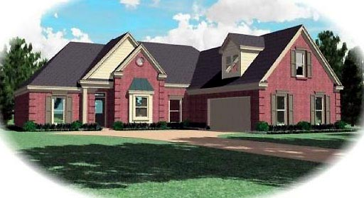 Traditional House Plan 47037 with 3 Beds, 2 Baths, 2 Car Garage Elevation